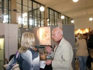 Weinautor Guy Bonnefoit mit Isabel del Olmo auf der WEIN AM MAIN 2012
