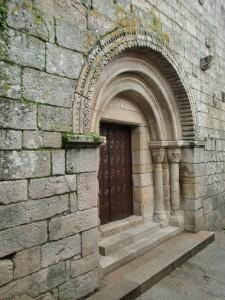 Romanische Kirche in Allariz, dem Geburtsort von Alfons dem Weisen