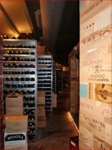 Der Weinkeller des Celler de  Can Roca mit über 40.000 Flaschen
