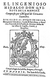 Titelblatt des Don Quijote 1605 (4. Auflage)