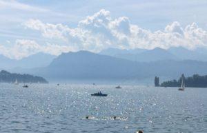 Bezaubernde Landschaft am Vierwaldstätter See in Luzern