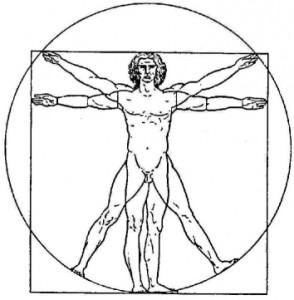 Leonardo da Vinci: Der truvianische Mensch - Harmonie des Körpers (=Gesundheit)