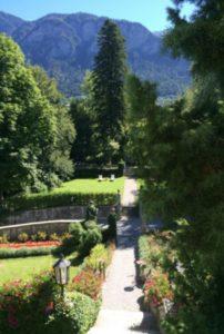 Der Garten von Schloß Schauenstein