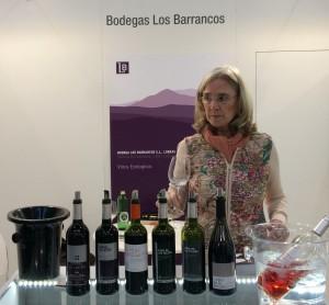 Isabel del Olmo, Gastgeberin am Stand der Bodega Los Barrancos